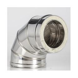 CODO 90º INOX DOBLE PARED  125/175 MM